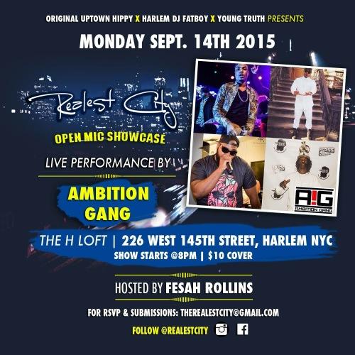 Kennie Dubb - Ambition Gang NYC - Open Mic Show Sept 2015 - Music Hip Hop Rap NYC