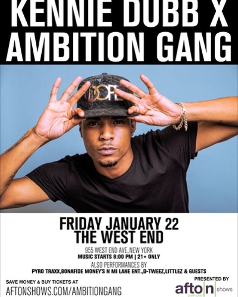 kennie dubb x ambition gang nyc 2016 shows