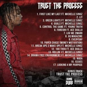 kennie dubb - trust the process - ttp - 2018 - music album - back cover